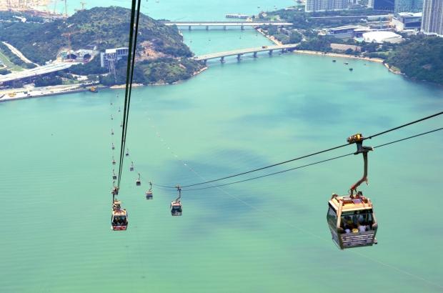 Chiny, Hongkong, wyspa Lantau, Ngong Ping 360 - powietrzny tramwaj do Po Lin Monastery
