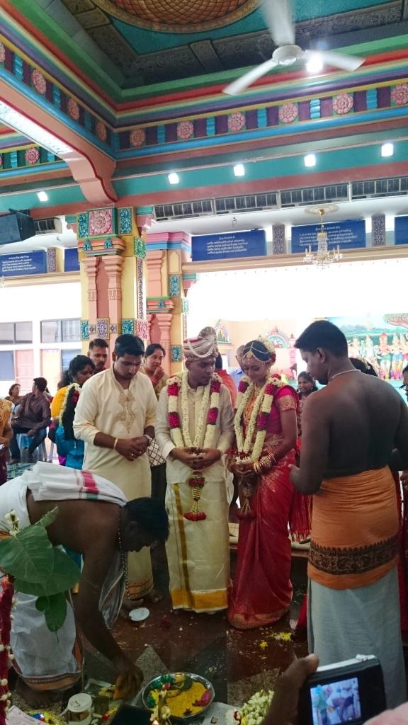 Malezja, Kuala Lumpur, ślub w hinduistycznej świątyni Sri Mahamariamman Temple