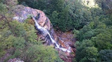 Australia, Blue Mountains, wodospad widziany z Kiah Lookout