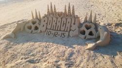 Filipiny, wyspa Boracay, White Beach, rzeźba z piasku