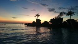 Filipiny, wyspa Boracay, zachód słońca przy Willy's Rock