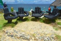 Filipiny, wyspa Magic (Magic Island) nieopodal wyspy Boracay, ciekawe krzesełka