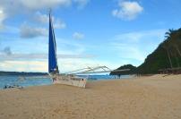 Filipiny, wyspa Boracay, łódka na Puka Beach