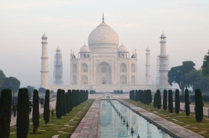 Indie, Agra, Taj Mahal - świt