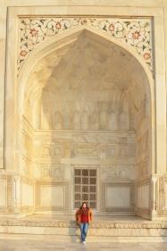 Indie, Agra, w jednym z bocznych wgłębień Taj Mahal