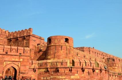 Indie, Agra, mury Agra Fort