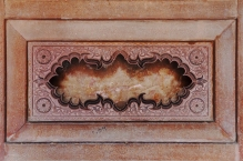Indie, Agra, Agra Fort, zdobienia na ścianie Jehangiri Mahal