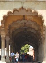 Indie, Agra, Agra Fort, Diwan-I-Am, Hall of Public Audience - Sala do publicznych audiencji