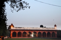 Indie, Delhi, Red Fort, Diwan-i-Aam, miejsce publicznych audiencji