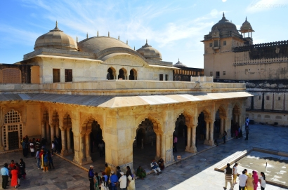 Indie, Jaipur, Amber Fort, Jas Mandir - Hall of private audience