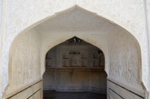 Indie, Jaipur, Amber Fort, zdobienia wewnątrz Jas Mandir