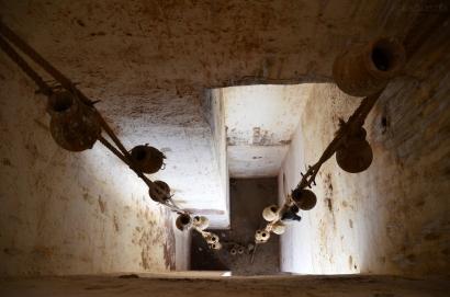 Indie, Jaipur, Amber Fort, mechanizm dostarczania wody do części pałacowej