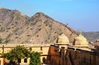 Indie, Jaipur, Amber Fort, widok na Wielki Mur Indii