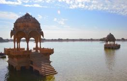 Indie, Jaisalmer, Gadisar Lake