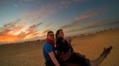 Indie, pustynia Thar, Sam Sand Dunes, na wielbłądzie
