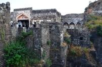 Indie, Maharasztra, okolice Aurangabad, Fort Daulatabad,