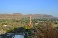 Indie, Maharasztra, okolice Aurangabad, Fort Daulatabad, widok z fortu na minaret
