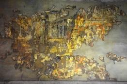Indie, Maharasztra, okolice Aurangabad, jaskinie Ajanta, malowidła na ścianie w jaskini numer 1
