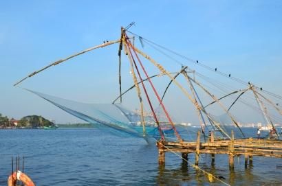 Indie, Kerala, Kochi (Koczin), Chinese Fishing Nets - Chińskie sieci rybackie