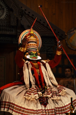 Indie, Kerala, Kochi (Koczin), Kerala Kathakali Centre, pokaz Kathakali
